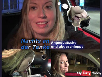 At night in the gas station! Angequatscht and towed