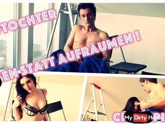 STIEFSCHWESTER!!! bu*sEN STATT AUFRÄUMEN!!