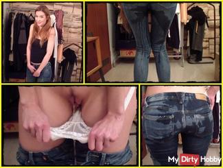 Mega Pisseflut in jeans and panties!
