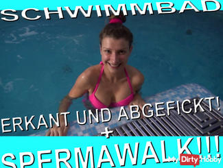 SWIMMING POOL - erkant AND Fucked + SPERM WALK !!!