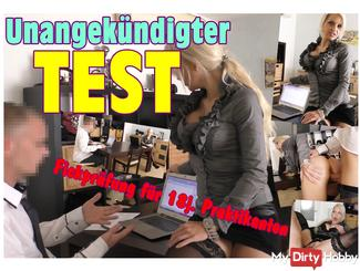 Unannounced TEST! Fickprüfung for 18jähr. Interns !!!