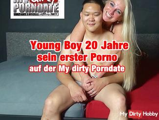 Young Boy - 20 years his first porn