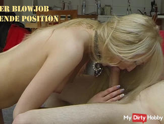 First Blowjob - on his knees