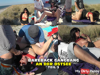 BAREBACK GANGBANG ON THE BEACH - Part 3