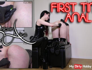 Slavegirl Alice - First Time anal