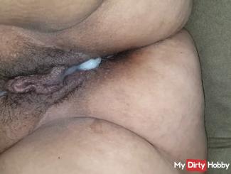 Horny juicy bbw creampie