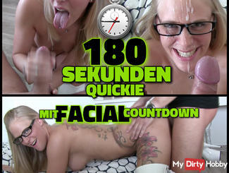 180 seconds quickie - Monster FACIAL with Abspritz Countdown