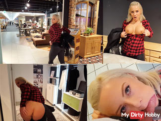 PUBLIC fucked in the furniture store !!!
