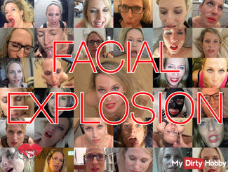 FACIAL EXPLOSION ! 33x in the face !