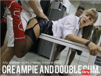 Creampie and Double cum