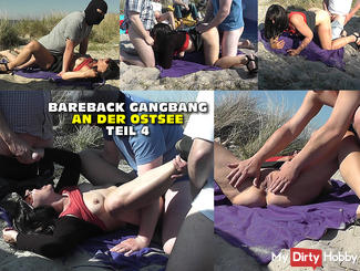 Bareback Gangbang on the beach - Part 4