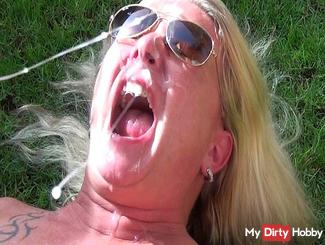 Mega sperm load in my face by Conny Dachs!