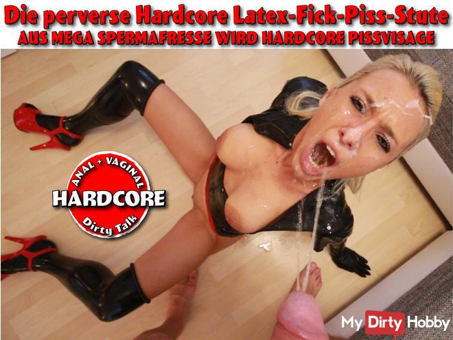 The perverse hardcore latex fuck piss semen mare!