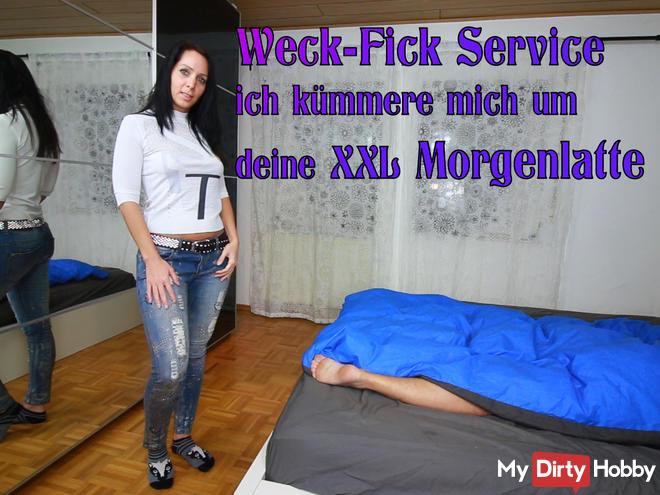 Wake-fuck service - sperm bomb in the face