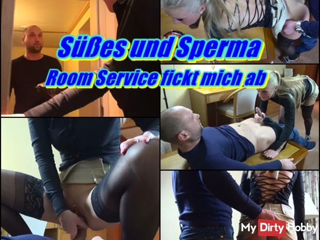 Sweet and Cum - Room service fucks me