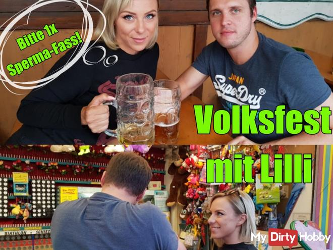 Volksfest with Lilli !! Please 1x sperm barrel!