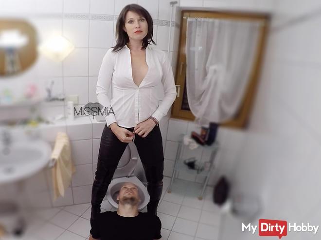 My toilets slave!