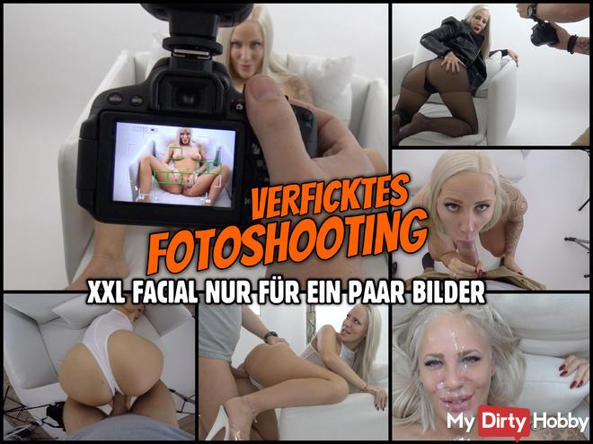 BEINE BREIT für ein verficktes Foto Shooting | XXL Facial nur für ein paar Bilder