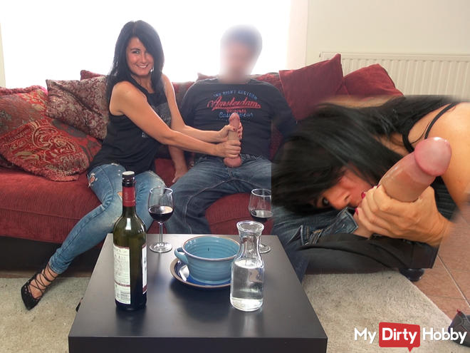 My first live date with 24cm mega cock