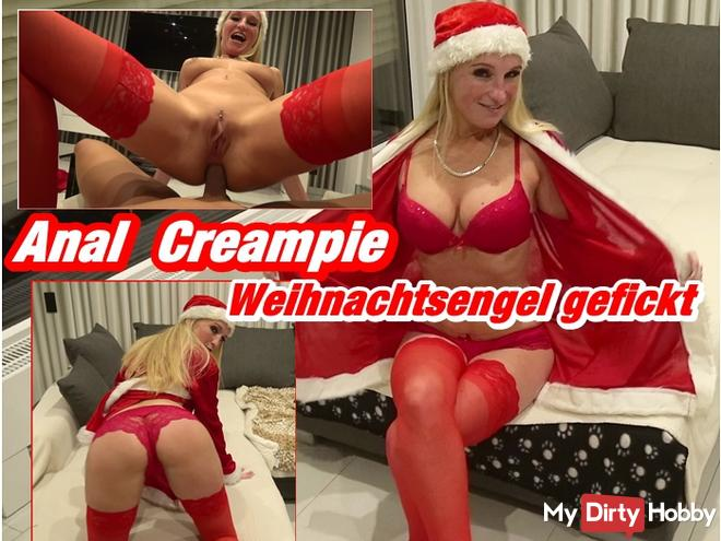 Anal Creampie - Christmas Angel fucked