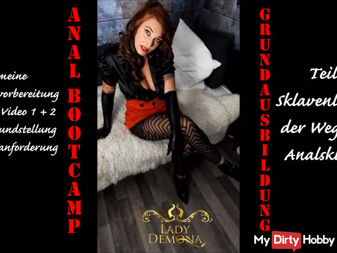 Slave Bootcamp! Anal training 3! Preparation for the exam! By Lady_Demona