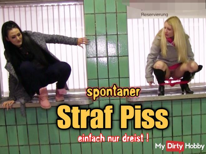 brash penis piss in the station!