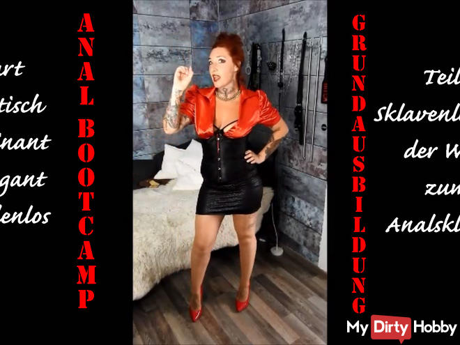 Slave Bootcamp! Anal training 1! Hard, dominant, letting go! | By Lady_Demona