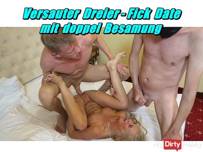 Nasty Threesome - Fuck Date with double Insemination