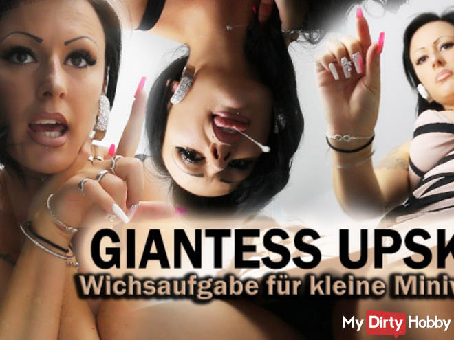 GIANTESS UPSKIRT - Wichsaufgabe for Miniworms!