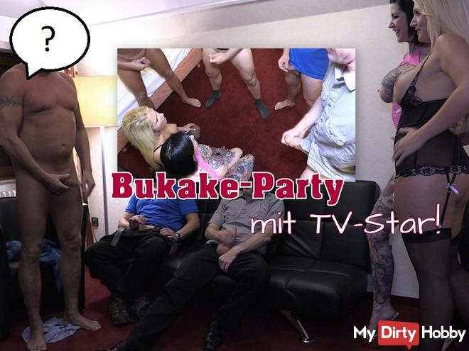 Bukake-Party mit TV-Star!