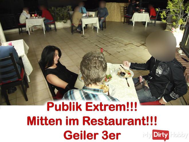 Public XXL! After Work Fuck in the restaurant 2 cocks, sprayed 5x.
