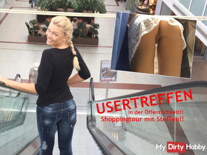 USERTREFFEN in public !! Shopping with Steffen !!