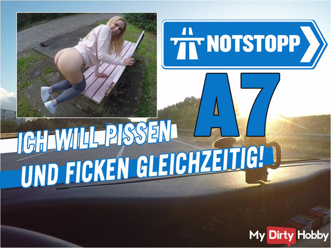 EMERGENCY STOP A7 !! I WANT PISSING AND FUCKING AT THE SAME TIME!