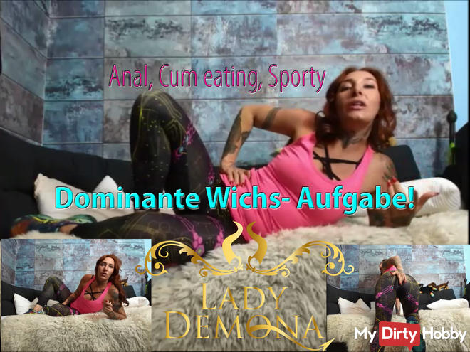 Sporty, dominant task! Anal, Wanking, Cum Swallowing!
