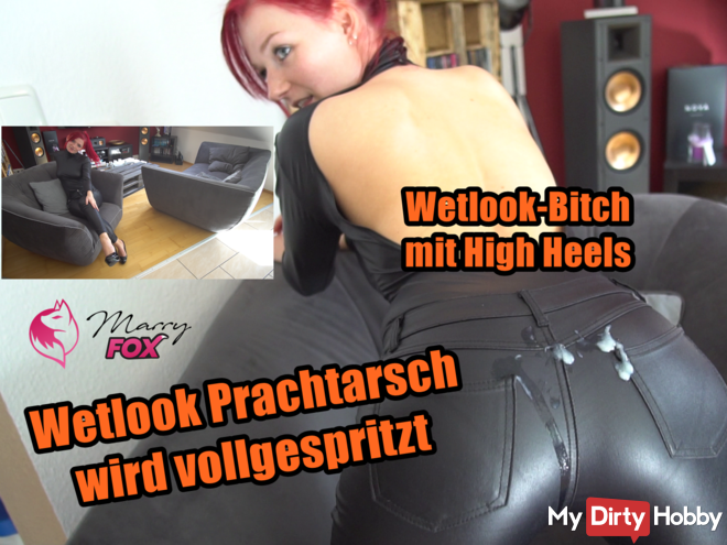 Wetlook gorgeous ass in high heels is inseminated