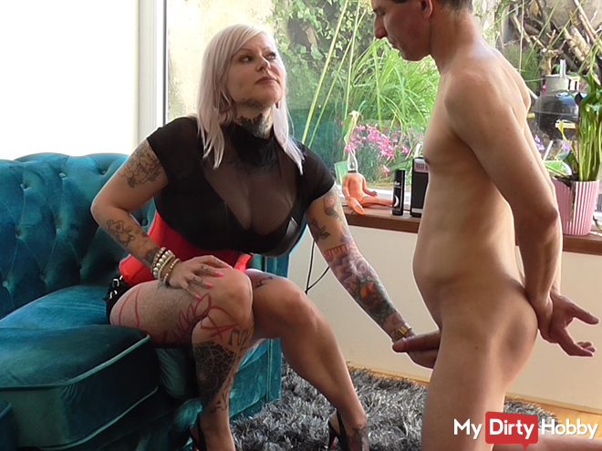 Strict fucking instructions, Cum eating with slave!