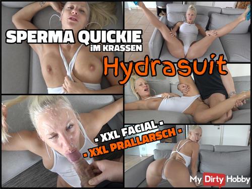 Sperm quickie in stark Hydrasuit - SOO I bring everyone to cum