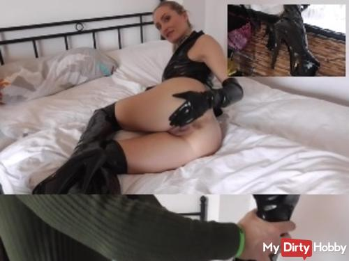Latex and Leather Goddess! So you fuck me