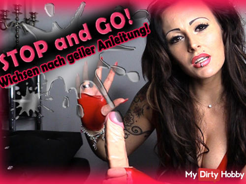 STOP & GO! Wanking after horny instructions!