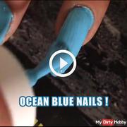 Ocean blue nails !