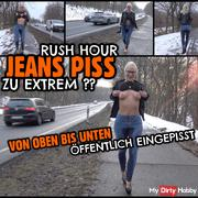 EXTREME PUBLIC JEANS PISS | Public eingepisst on the main street