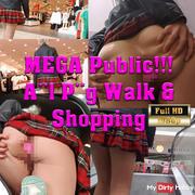 Mega Public - ana* Plug Walk Pu**yplay im Einkaufszentrum
