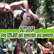 OUTDOOR From the ENEMA horny and wanked