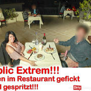 Public extreme! In the middle of the restaurant fucked 3x injected!