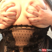 Big tits creamed and used