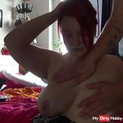 He massages me briefly and you can still see some of the cum