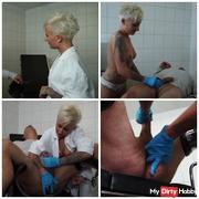 Latex prostate milking