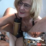 Venus 2000 - Gyno.-Chair - Piss through the enema hose in the mouth cunt of the slave