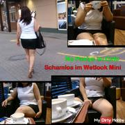 No Pantys in the Cafe - Shameless Wetlook Mini and hard nipples