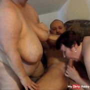 two lesbians blow cock 2